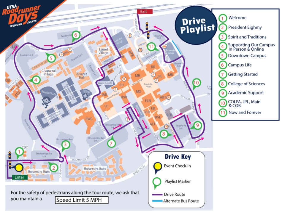 Welcome Drive map